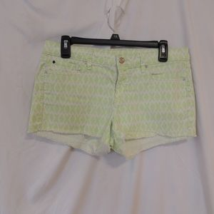 GAP Sz 28 Womens  Geometric Summer Cut-Offs Shorts